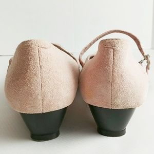 Hush Puppies Shoes - Hush Puppies Suede Pink Low Heel Mary Janes